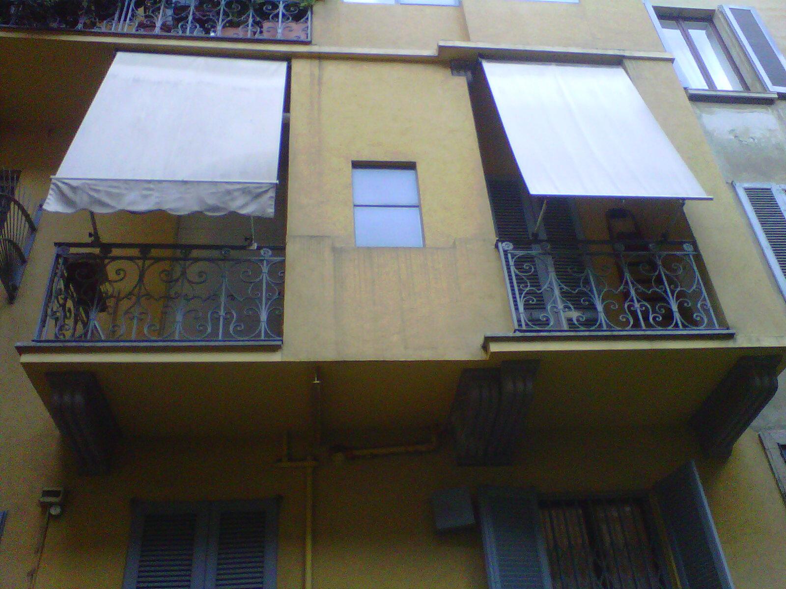 2. Vista prospetto lato cortile con finitura intonacata: stato di fatto.