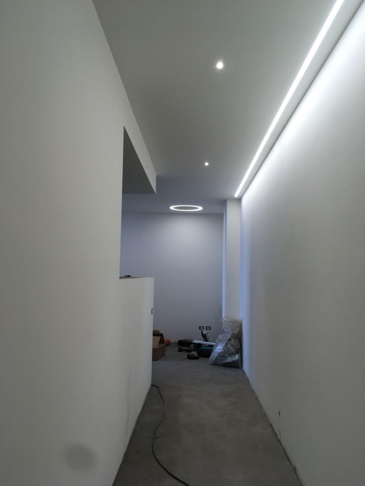 23. Illuminazione led a soffitto a lavori ultimati: lavori ultimati.