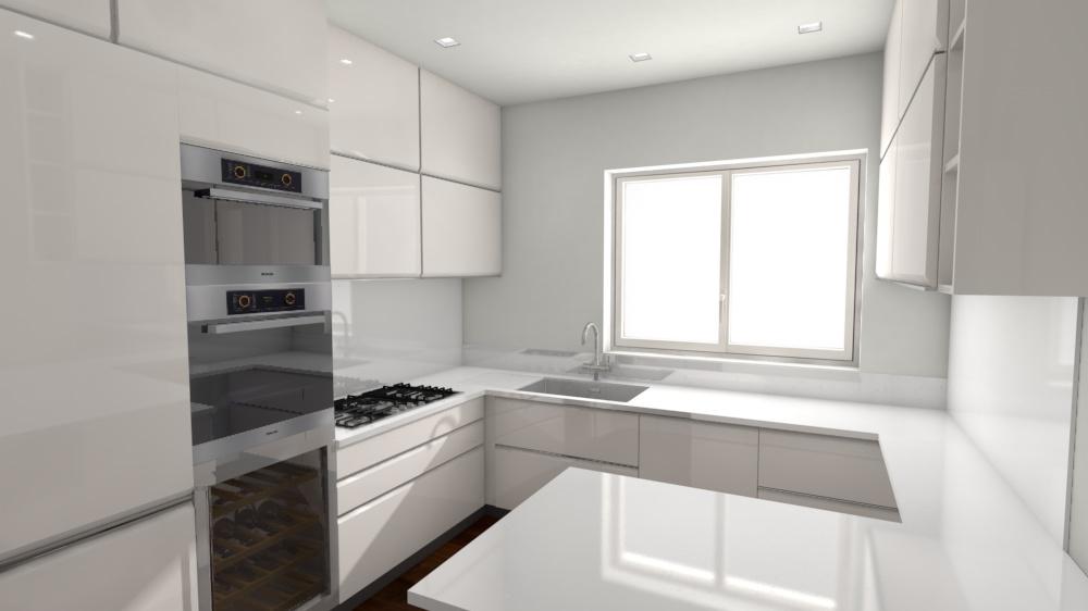 5. Studio progettuale della cucina tramite render grafico tridimensionale: stato di progetto.